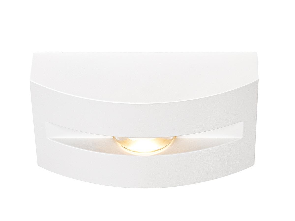 Applique et plafonnier extérieur blanc OUT-BEAM FRAME avec LED