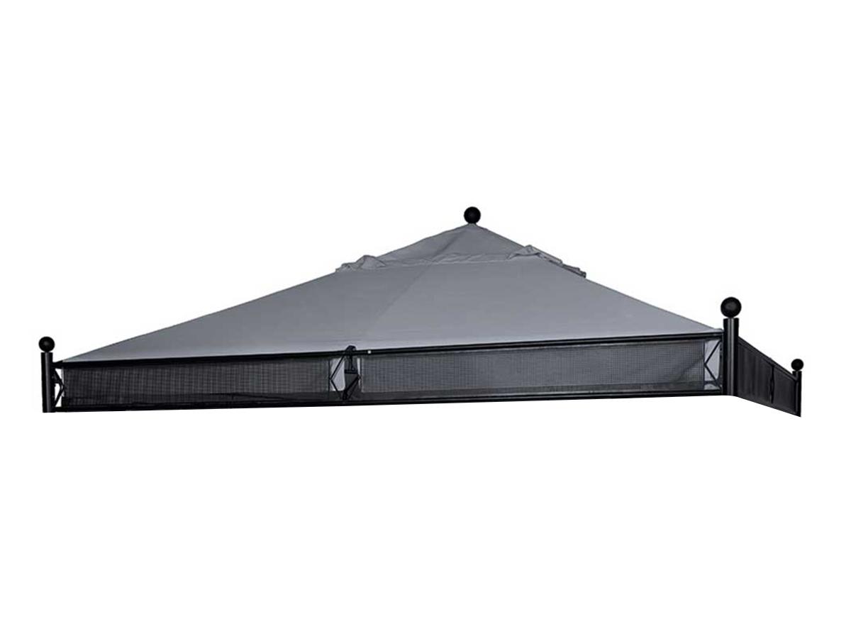 Toile de toit pour la tonnelle Jakarta 3,5 x 3,5 m Ardoise