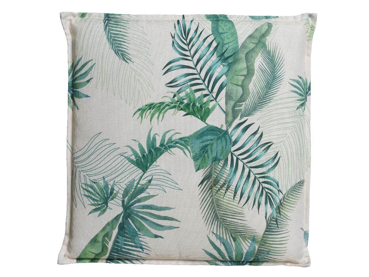 Coussin feuilles de palmier 42 x 42 x 5 cm - Jardideco