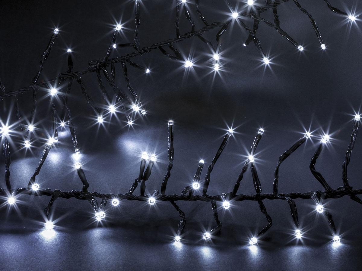 Guirlande lumineuse extérieur Boa 192 LED Blanc froid - Jardideco