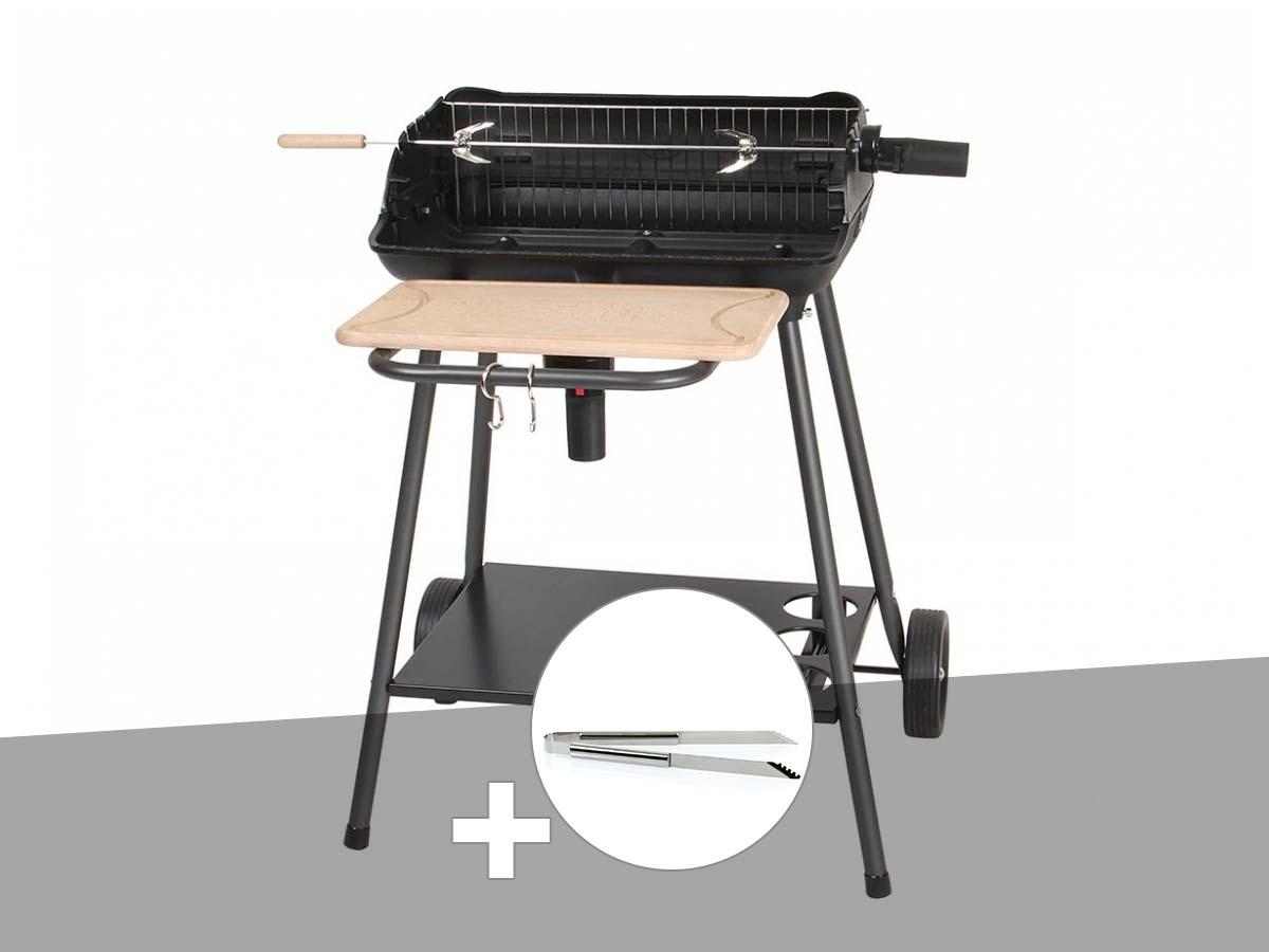 Barbecue charbon Bergamo Somagic + Pince en inox