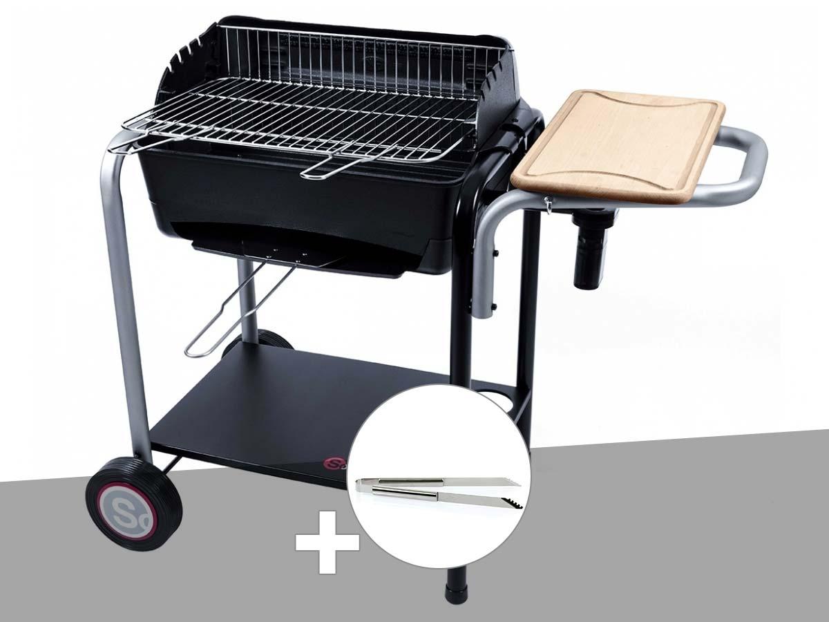 Barbecue charbon Roma Somagic + Pince inox