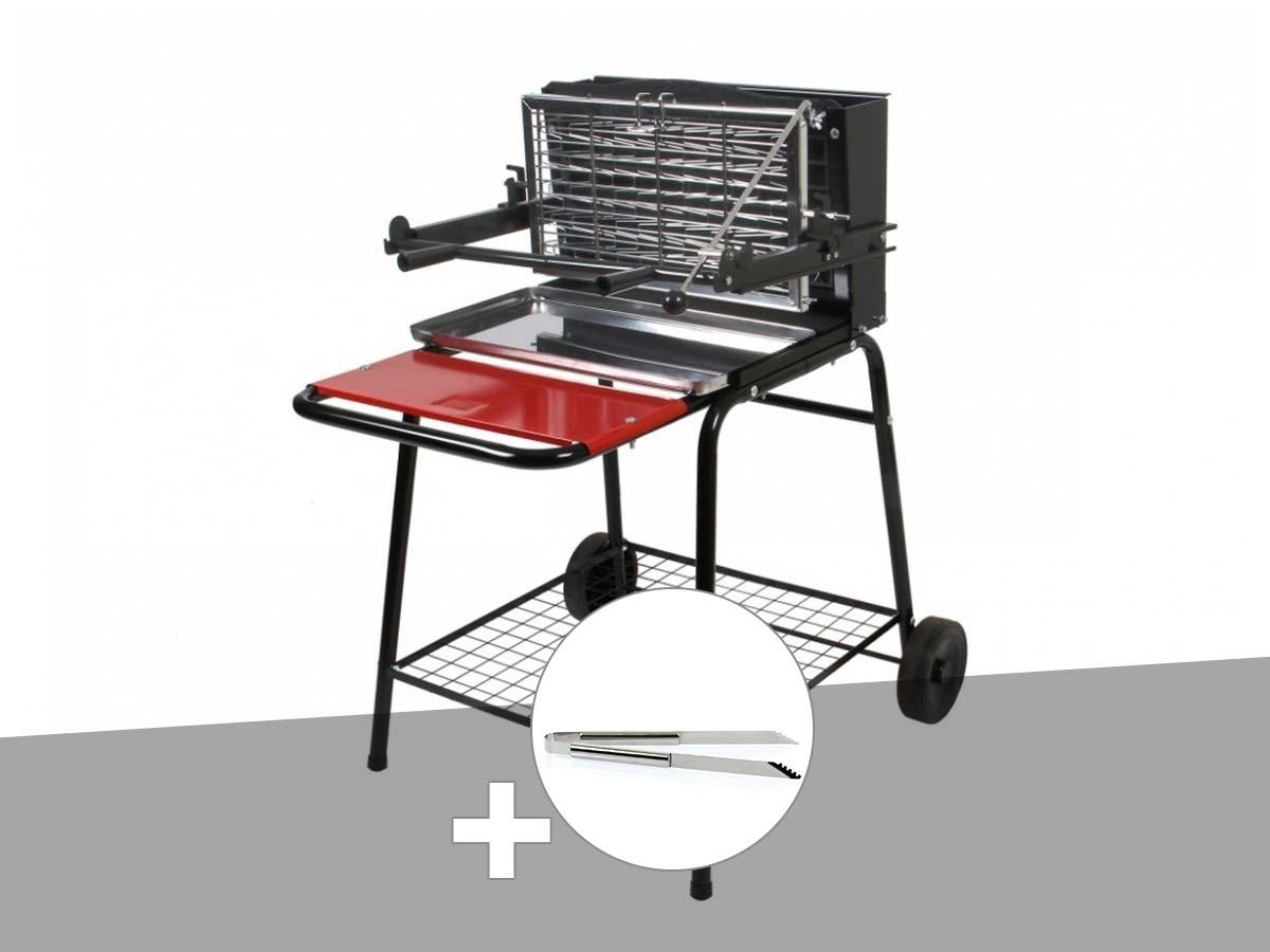 Barbecue vertical Raymond Somagic + Pince inox