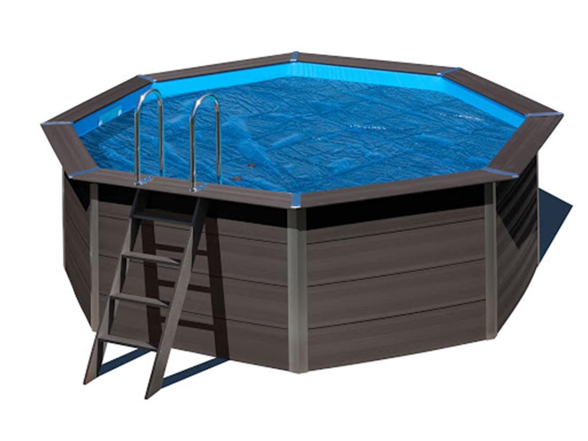 Bâche à bulles pour piscine composite ovale 8,04 x 3,86 m - Gré