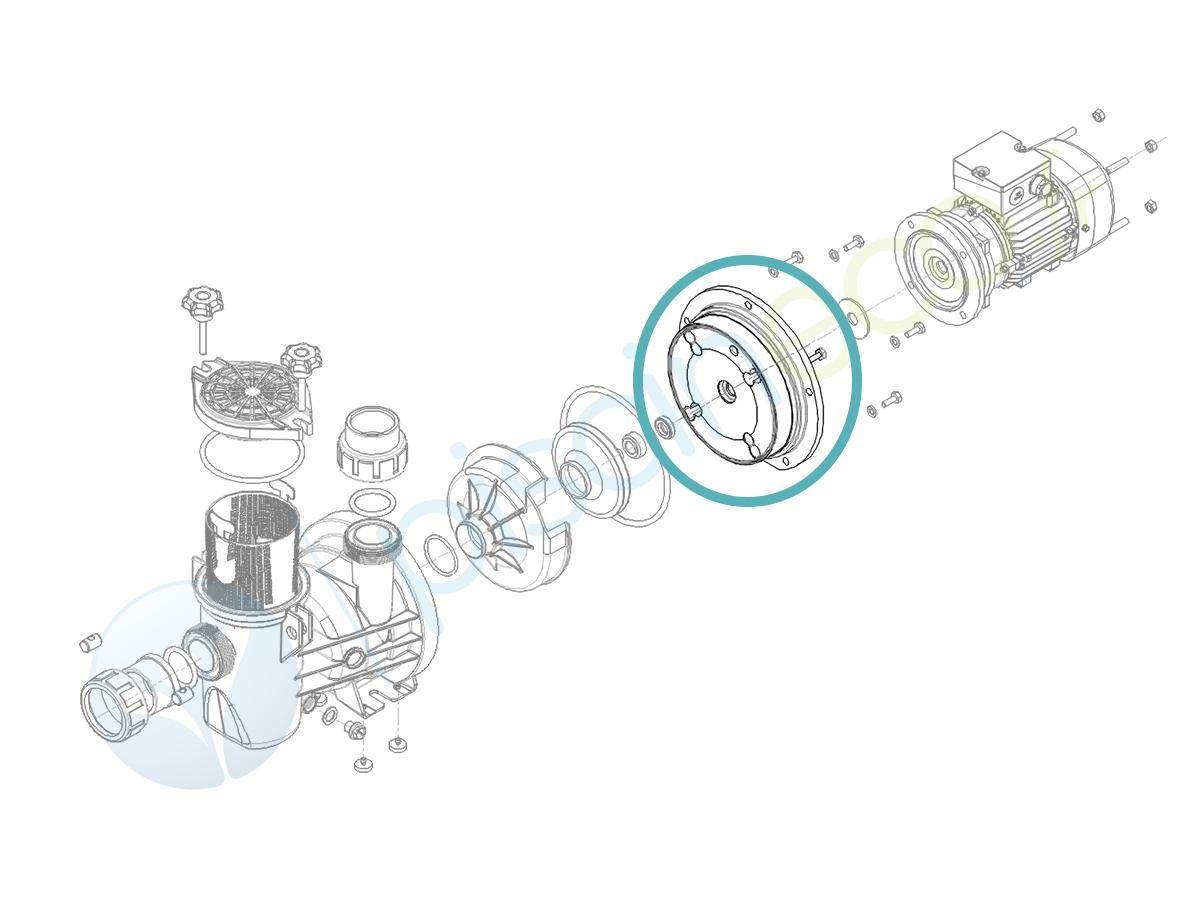 Flasque pour pompe Série HPS025 à Série HPS075 - Hydroswim