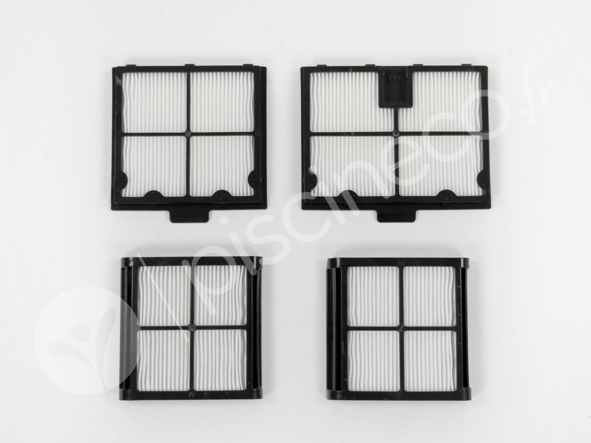 Kit 4 filtres fin 50 microns pour robot électrique E10, E20 et E25 - Dolphin