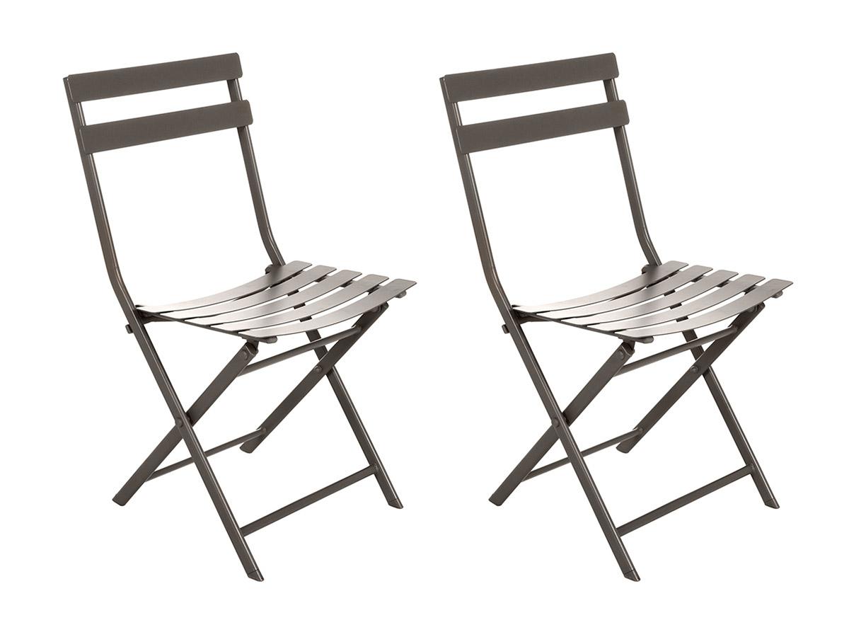 Lot de 2 Chaises de jardin métal pliante Greensboro Tonka - Hesperide