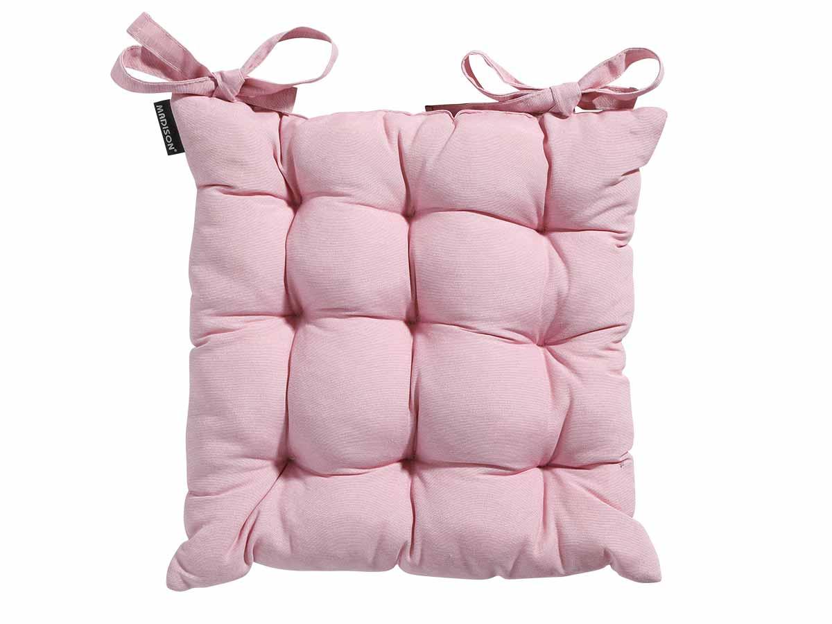 Galette de chaise de jardin Toscane Panama Soft Pink 46 x 46 cm