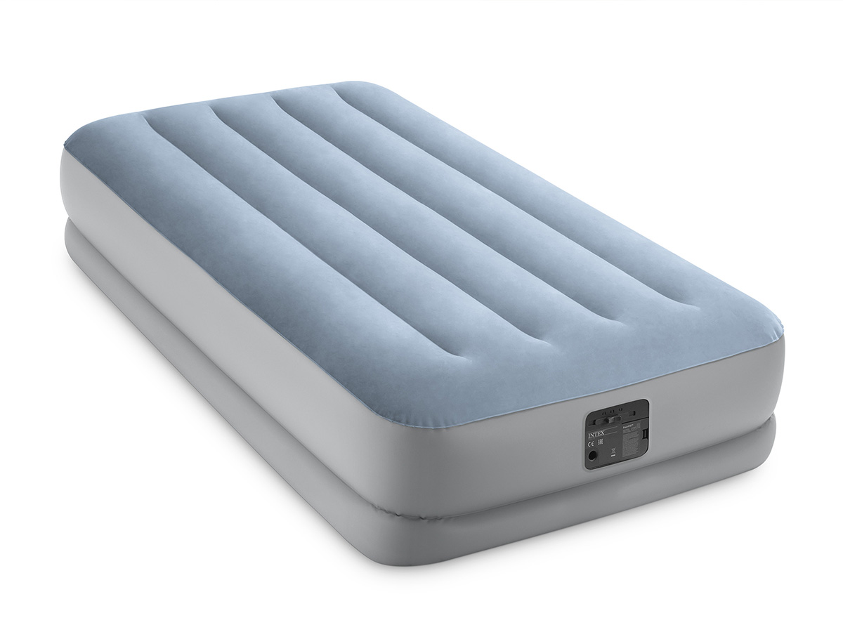 Matelas gonflable Raised Confort Fiber Tech 1 place - Intex
