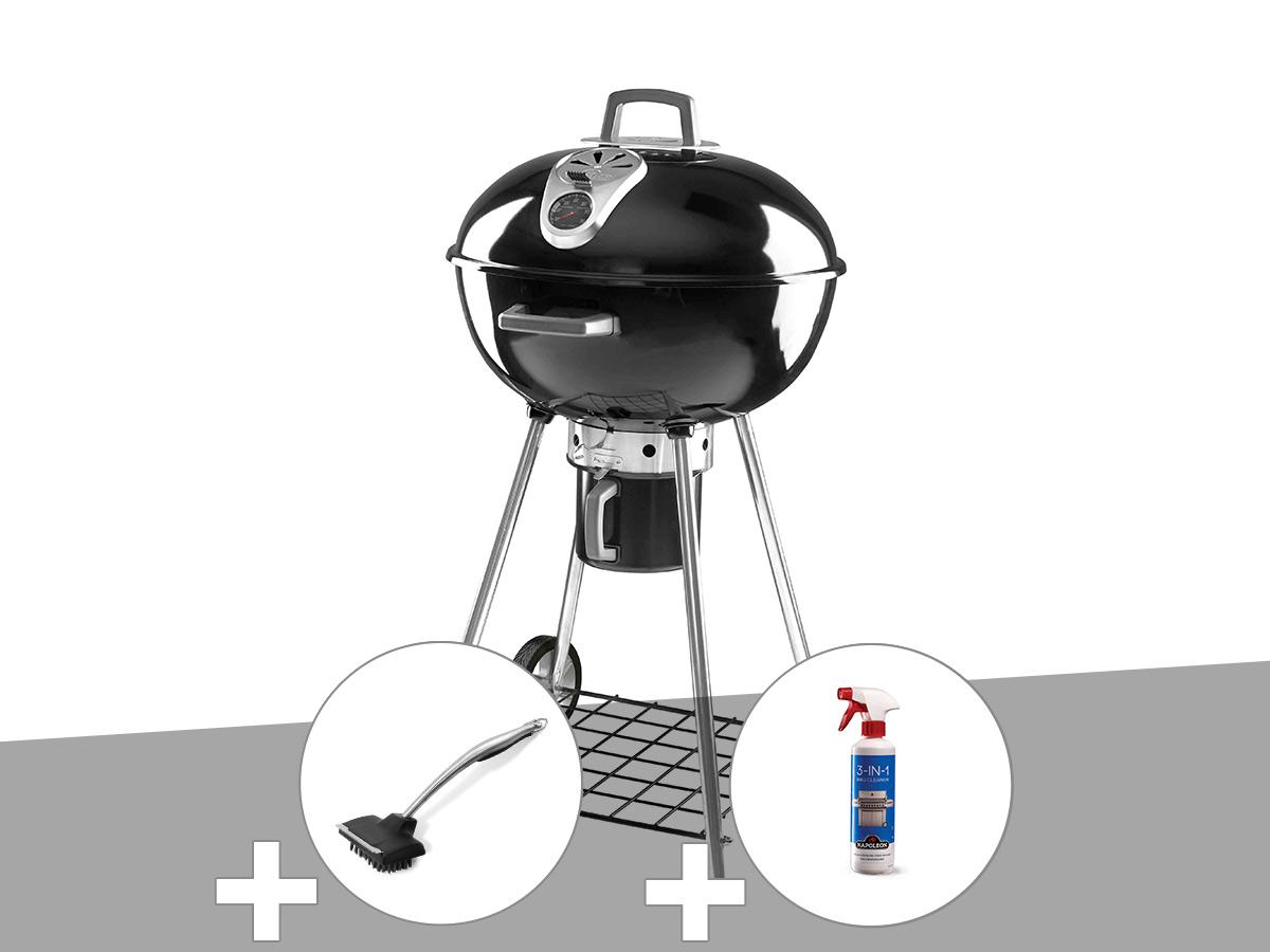 Barbecue à charbon Napoléon Rodéo 57 cm sur pied + Brosse pour grill + Nettoyant grill 3 en 1
