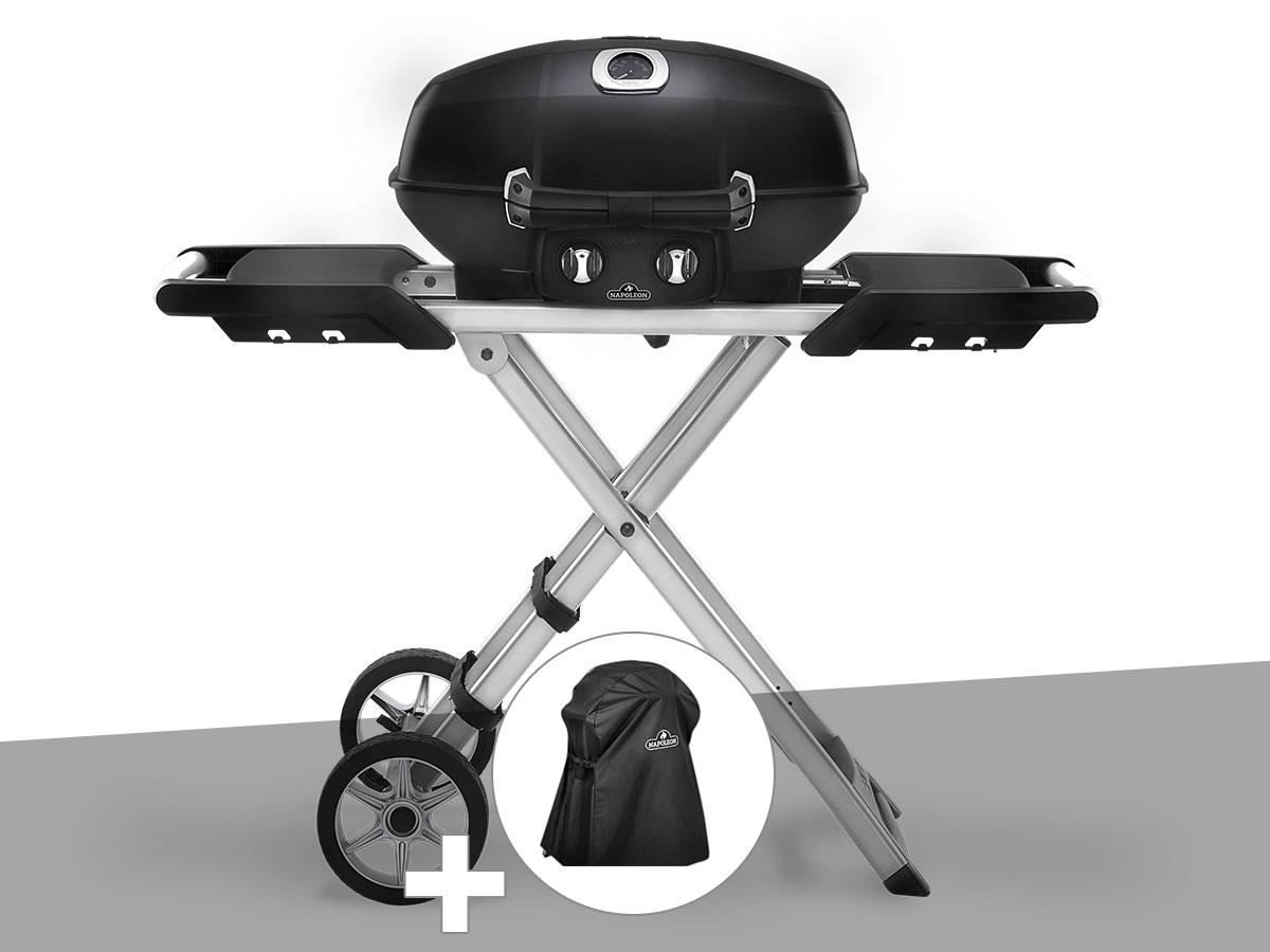 Barbecue à gaz Travel Q PRO 285X avec chariot pliant + Housse de protection