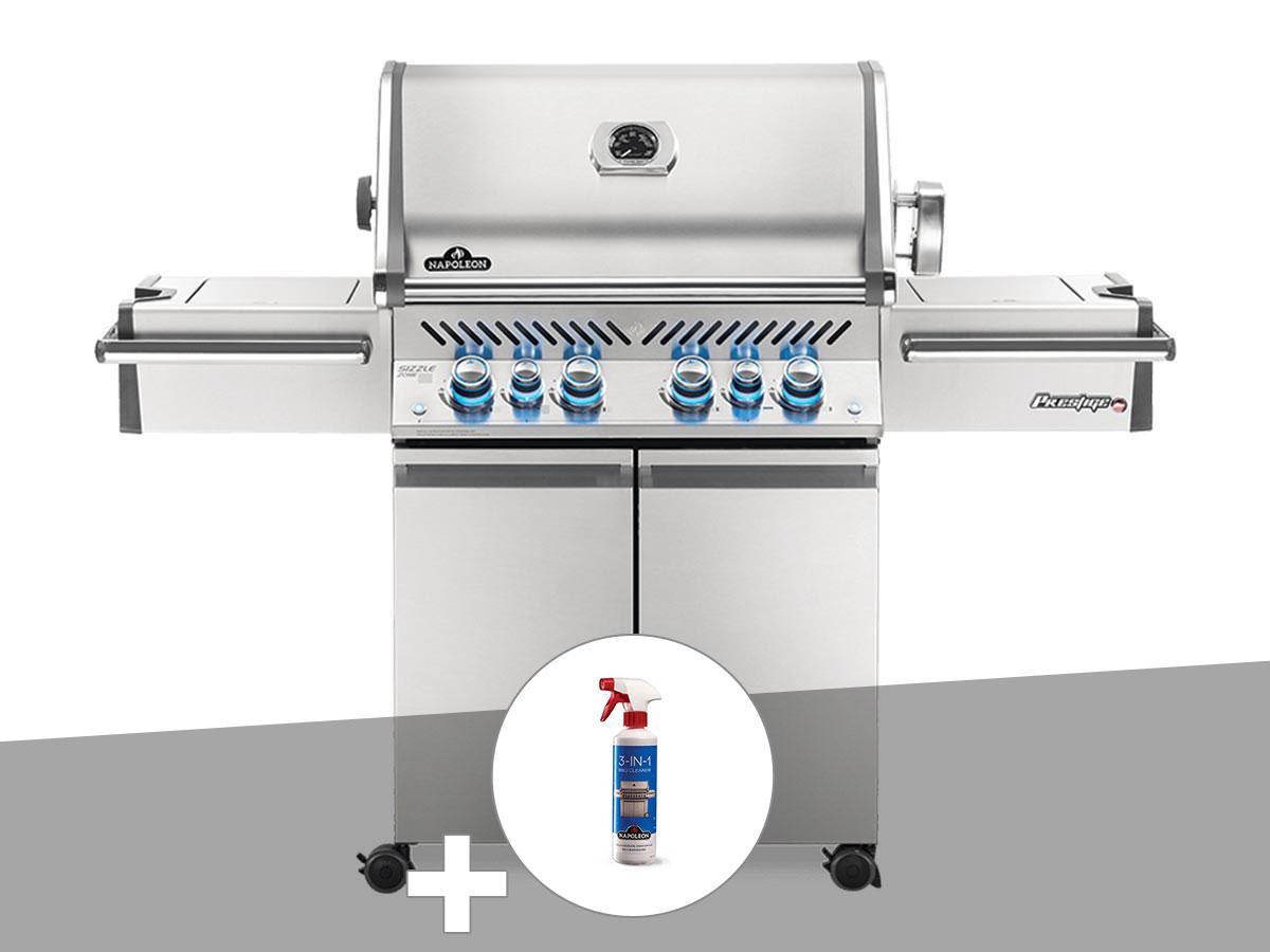 Barbecue à gaz Napoleon Prestige Pro 500 + Nettoyant grill 3 en 1