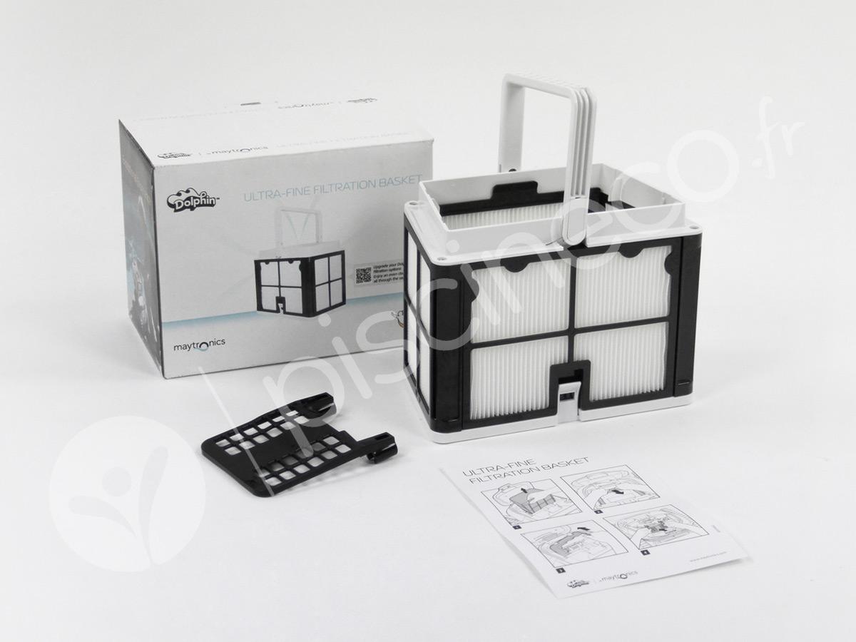 Panier de filtration ultra fin 50 microns pour robot électrique E10, E20 et E25 - Dolphin