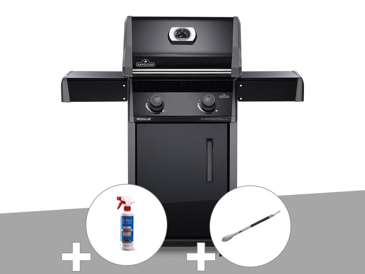 Barbecue à gaz Napoleon Rogue 325 + Nettoyant grill 3 en 1 + Pince auto-verrouillable