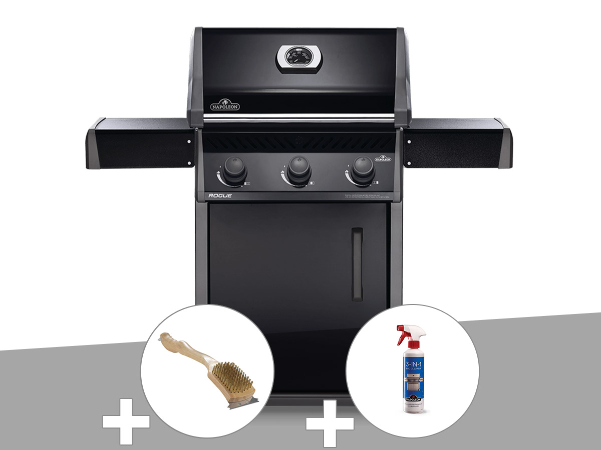 Barbecue à gaz Napoleon Rogue 425 + Brosse à grill + Nettoyant grill 3 en 1