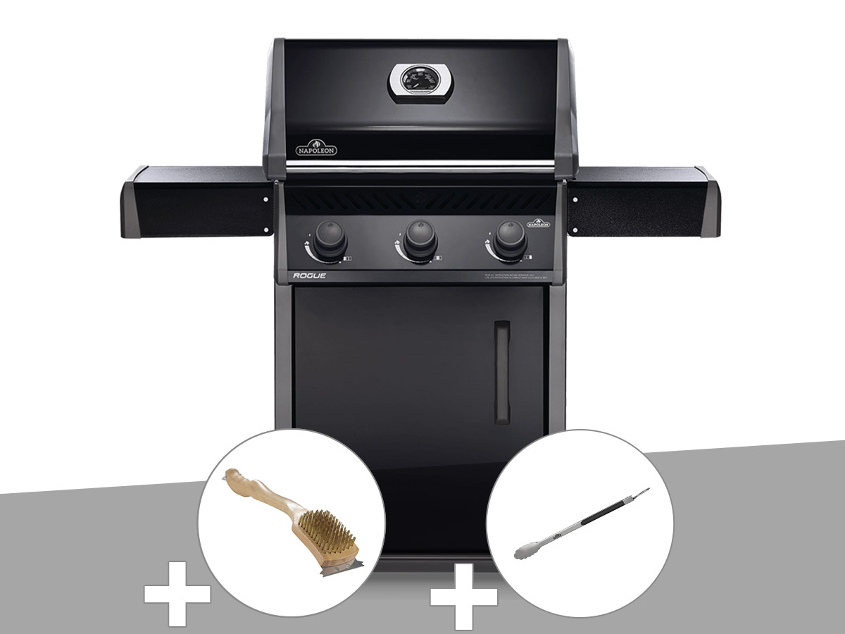 Barbecue à gaz Napoleon Rogue 425 + Brosse à grill + Pince auto-verrouillable