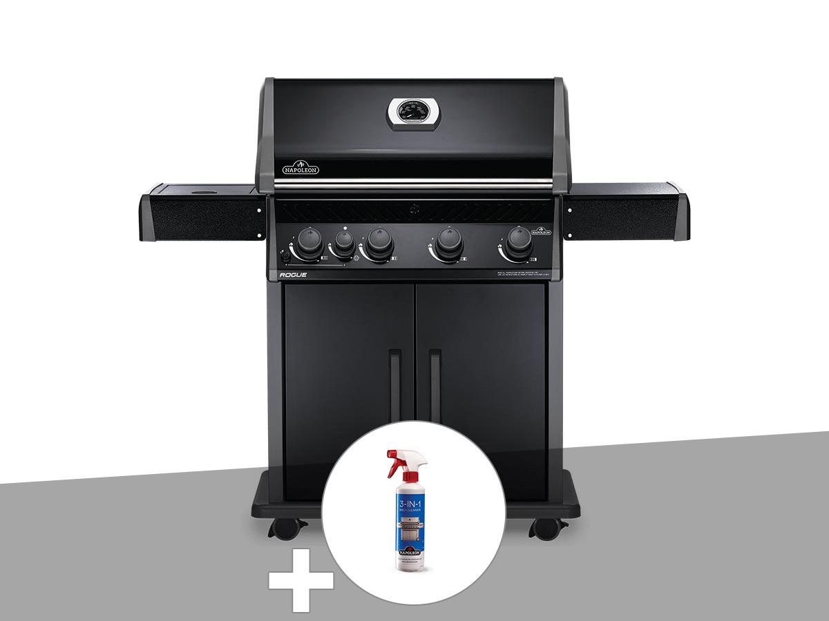 Barbecue à gaz Napoleon Rogue 525 SB noir + Nettoyant grill 3 en 1
