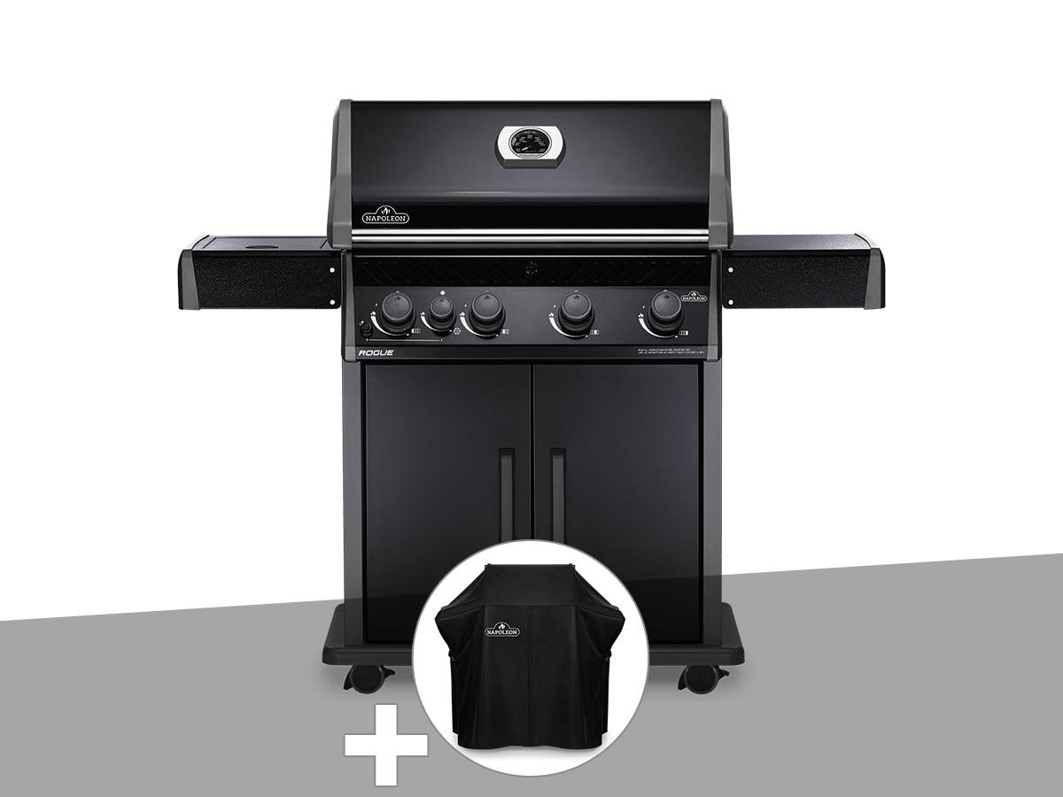 Barbecue à gaz Napoleon Rogue 525 SB noir + Housse de protection Rogue 525