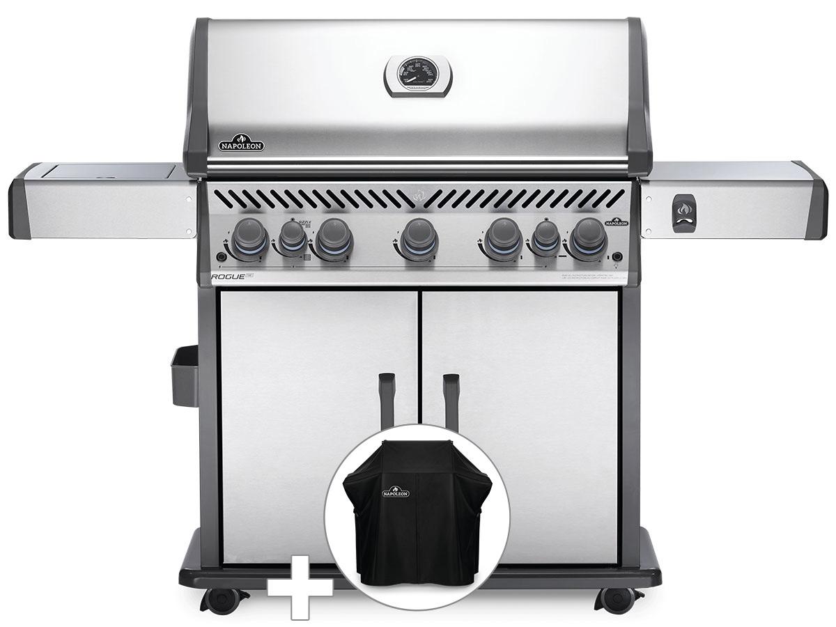 Barbecue à gaz Napoleon Rogue SE 625 inox 5 brûleurs + Housse de protection