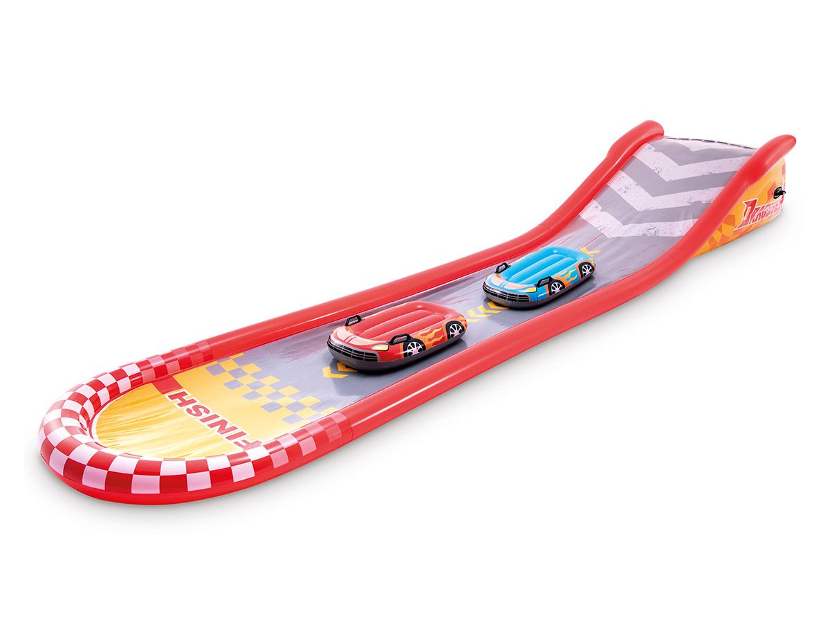Tapis de glisse Formule 1 avec 2 bodyboards - Intex