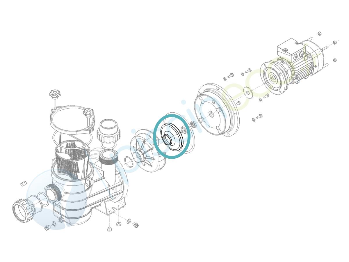 Turbine Ø 104 x 9 pour pompe Série HGS075 - Hydroswim