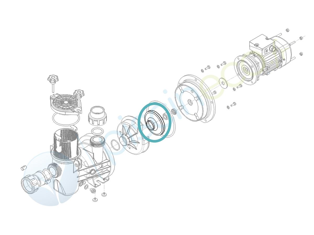 Turbine Ø 108 x 6 pour pompe Série HPS075 - Hydroswim