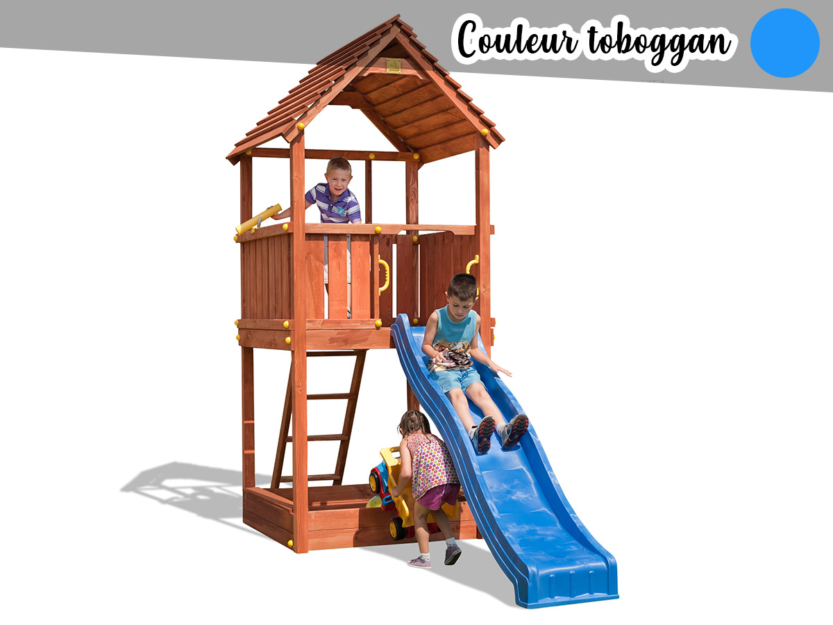 Aire de jeux Joy + Toboggan Bleu