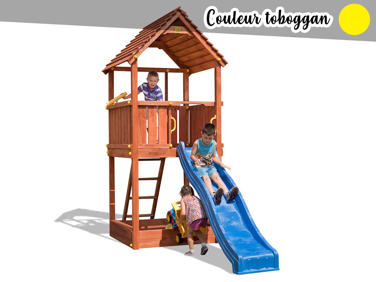 Aire de jeux Joy + Toboggan Jaune