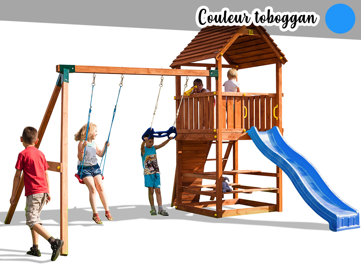 Aire de jeux Joy Move - Toboggan Bleu