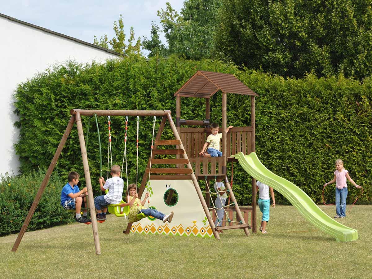 soulet  Portique bois Lombarde Aire de jeux pour enfants en bois Lombarde... par LeGuide.com Publicité