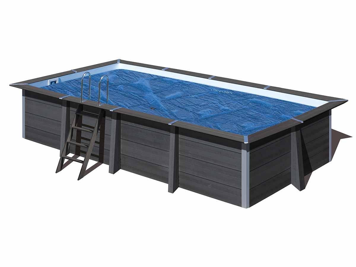 Bâche à bulles pour piscine composite rectangulaire 6,06 x 3,26 m - Gré