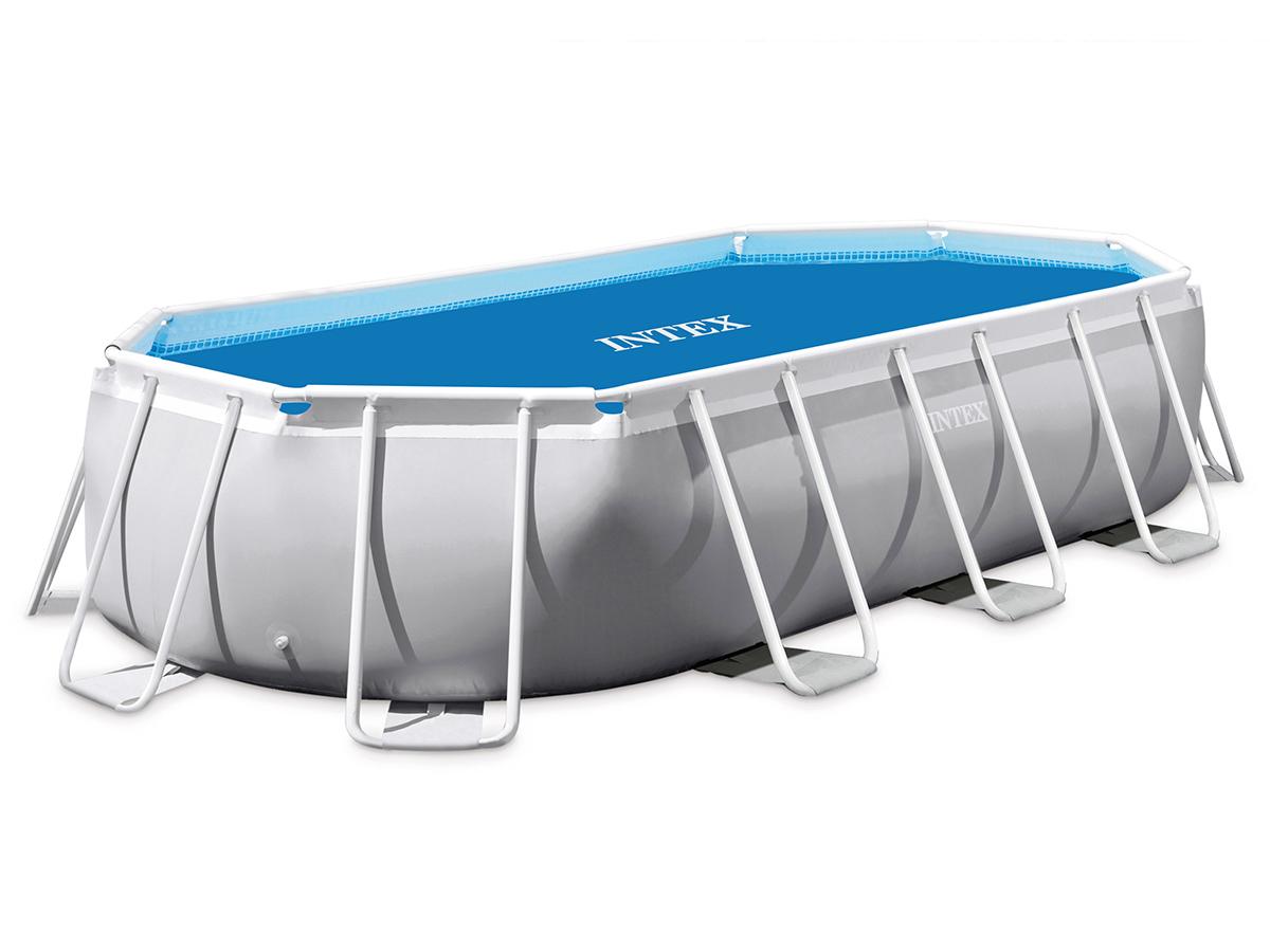 Bâche à bulles renforcée pour piscine tubulaire ovale 4,00 x 2,00 m - Intex