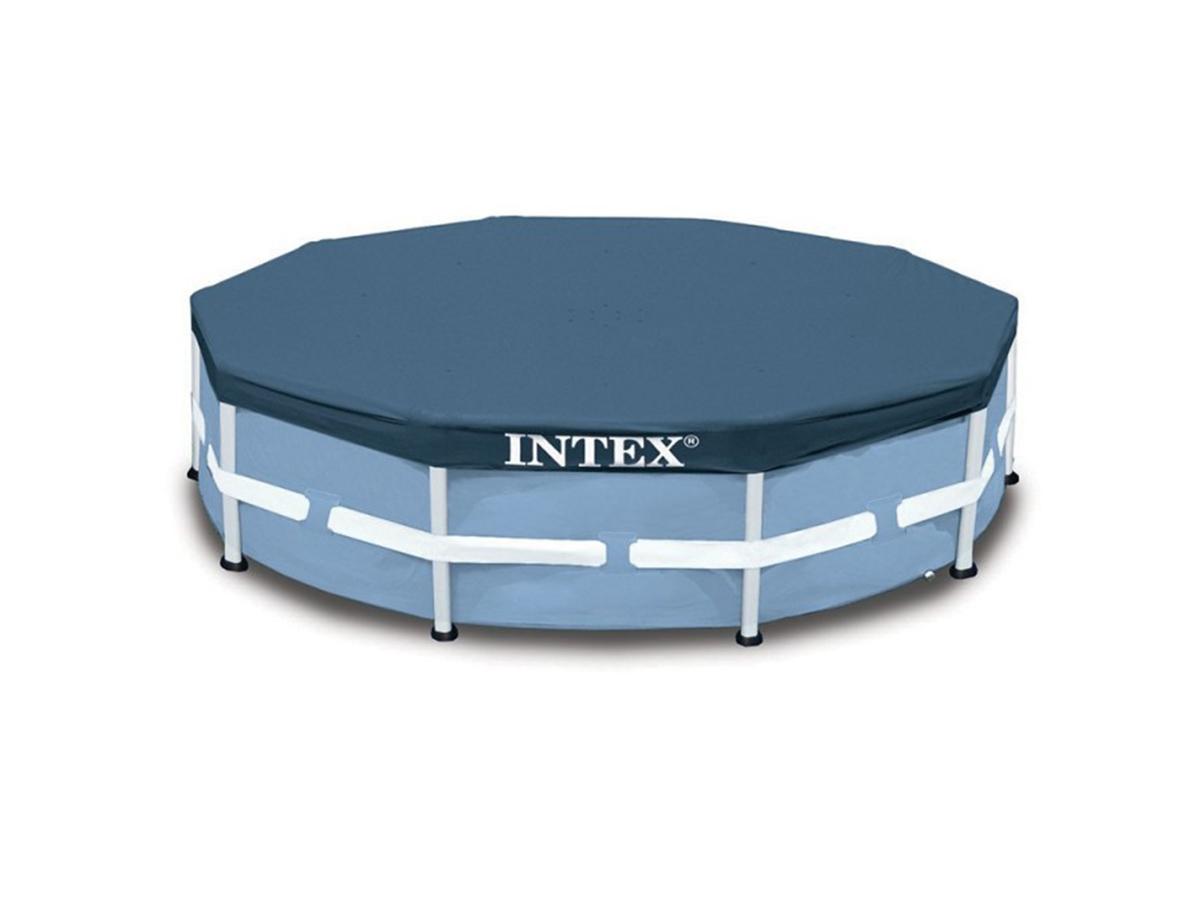 Bâche de protection piscine tubulaire ronde Ø 3,66 m - Intex