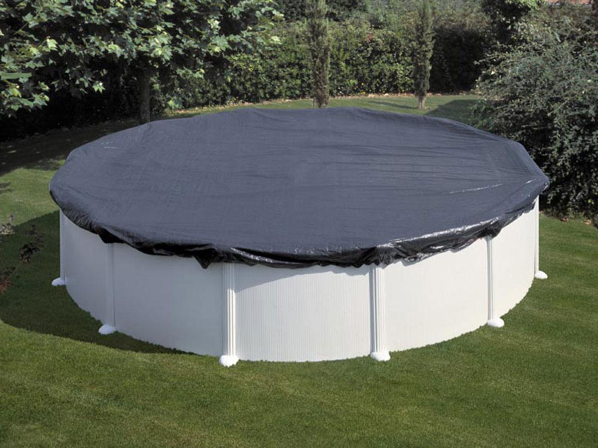 Bâche d'hivernage 120 g/m² pour piscine acier ronde Ø 5,70 m - Gré