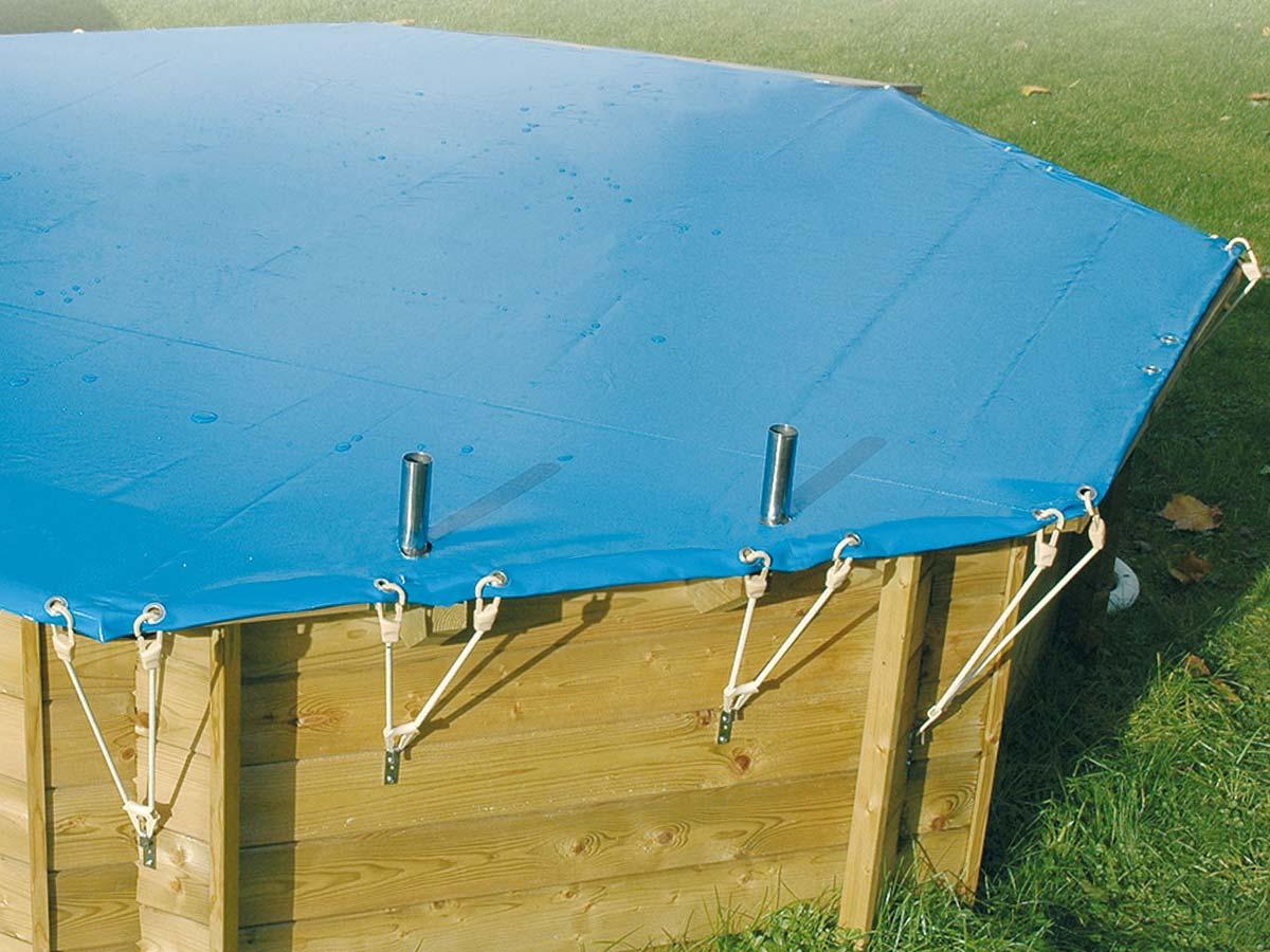 Bâche hiver pour piscine bois Océa Ubbink 3,55 x 5,50 m