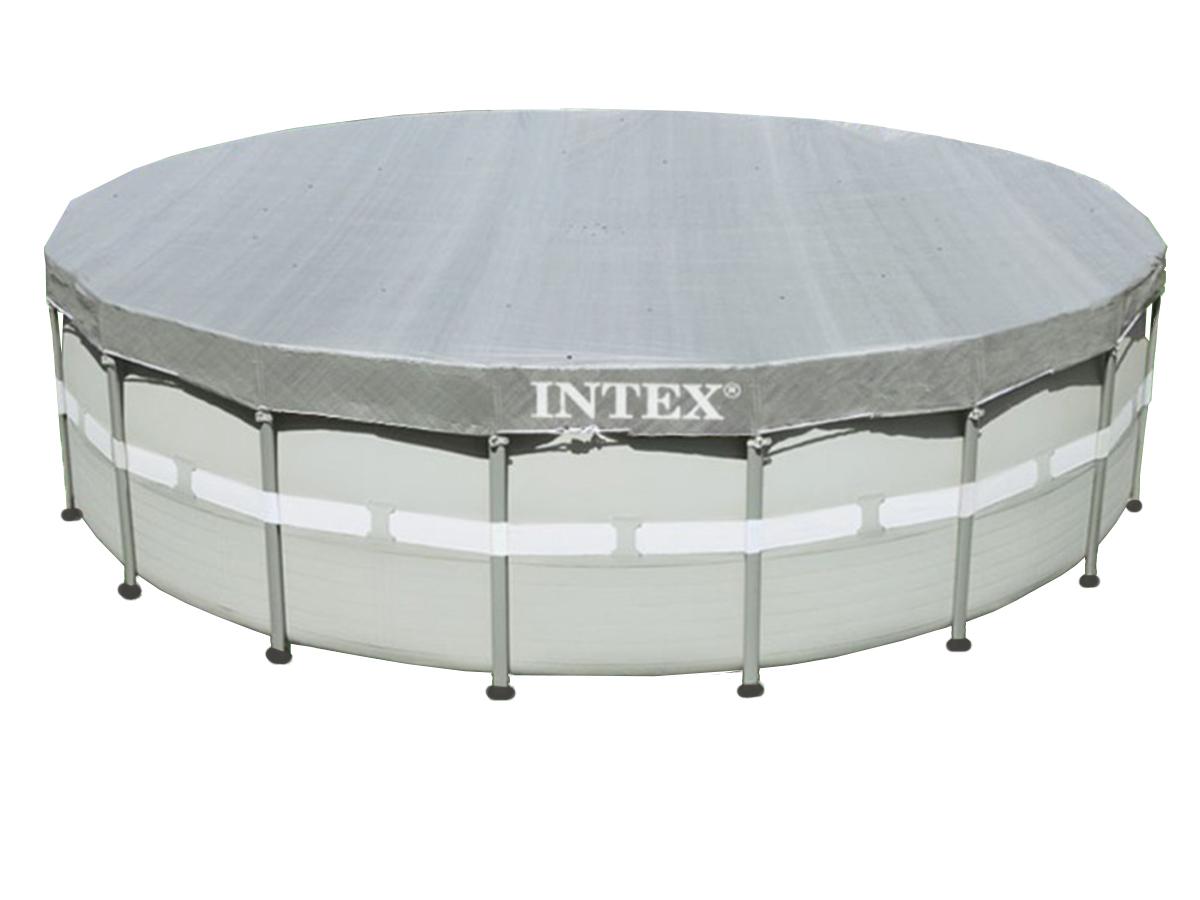 Bâche de protection Deluxe pour piscine tubulaire ronde Ø 4,88 m - Intex