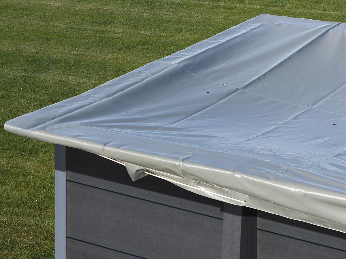 Bâche d'hivernage pour piscine composite rectangulaire 4,66 m x 3,26 m - Gré