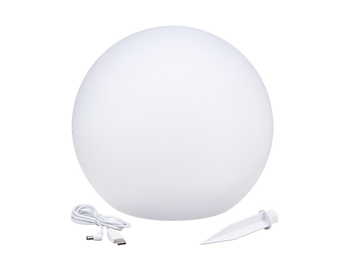 Boule lumineuse solaire flottante à piquer ou à poser LED blanc/multicolore SOLSTY Ø 30 cm