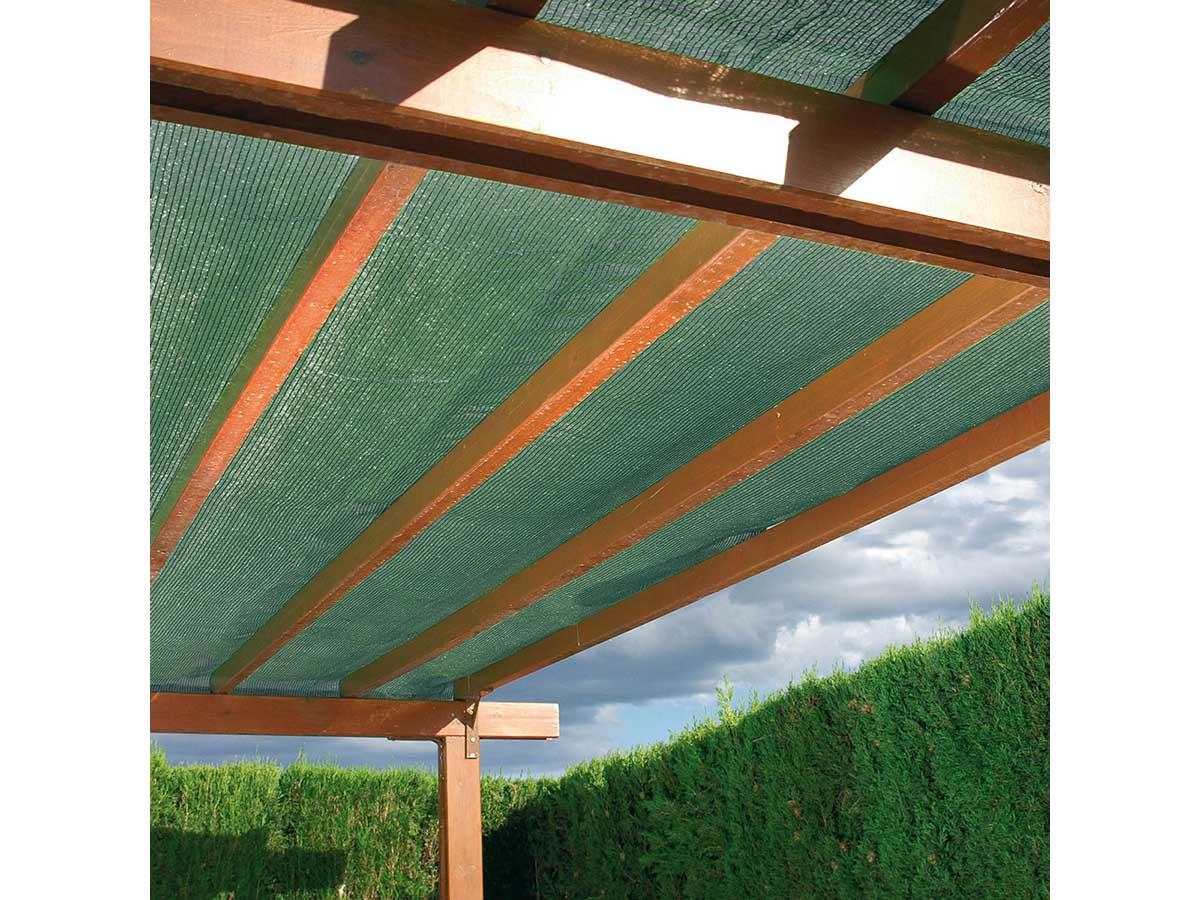 Brise vue en toile tissée Vert foncé 25 m x H.1,50 m - Jardideco