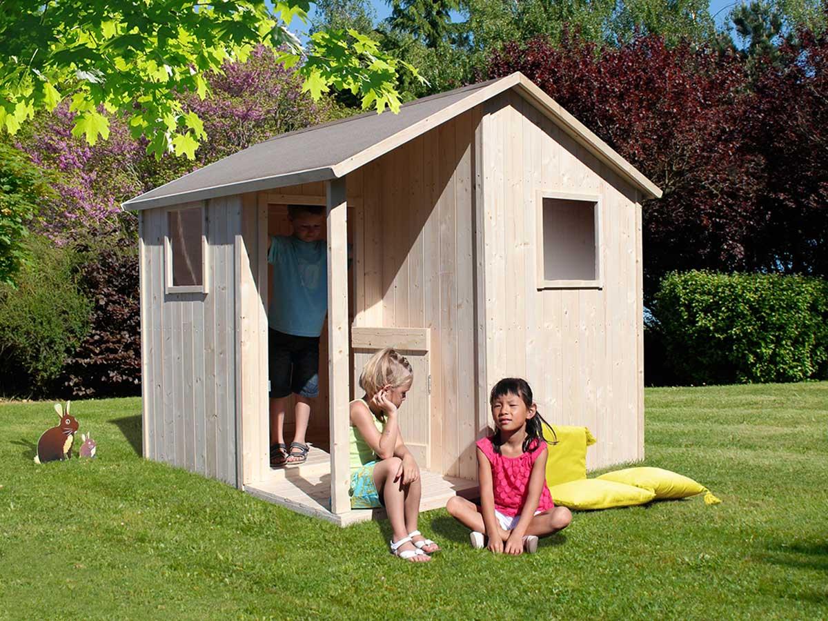 soulet  Cabane enfant Lisa Maisonnette LISA en bois brut de la marque Soulet... par LeGuide.com Publicité
