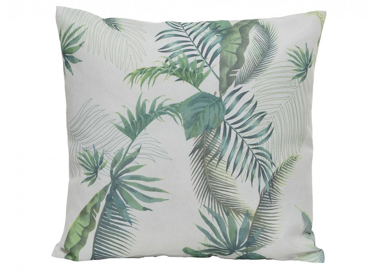 Coussin feuilles de palmier 45 x 45 x 15 cm