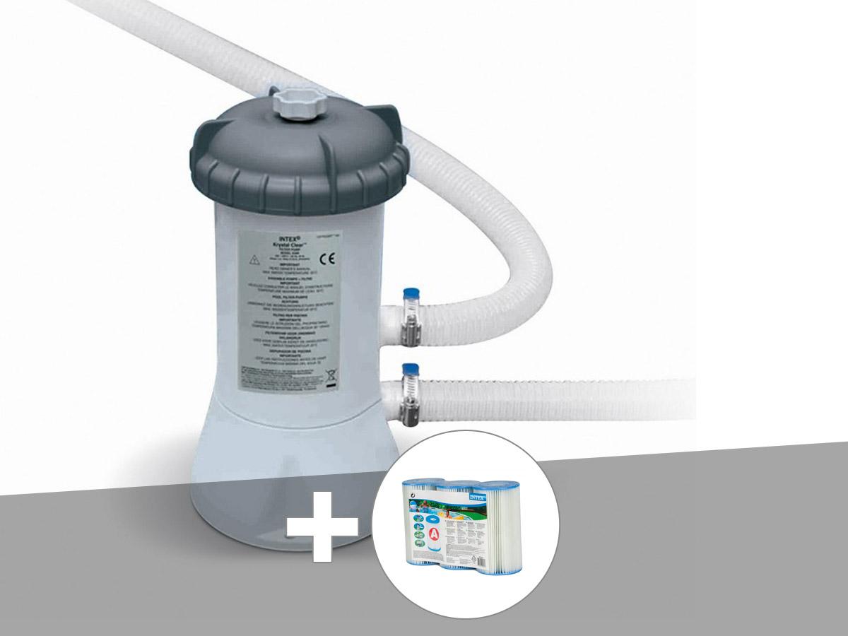 Epurateur à cartouche Intex 3,8 m³/h + 3 cartouches A