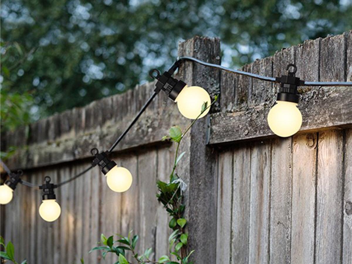 Guirlande lumineuse 20 Led ampoules fumées - Blanc chaud