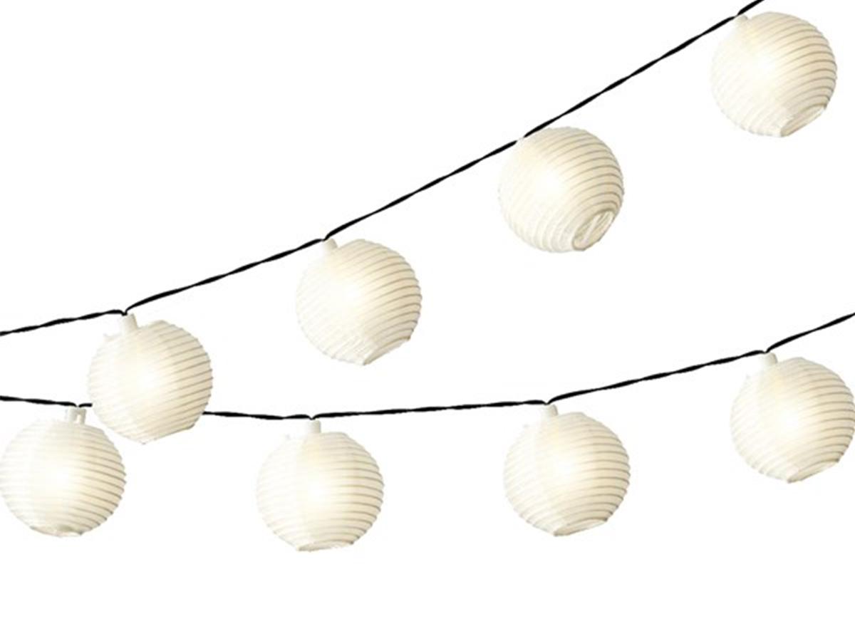 Guirlande solaire lanternes chinoises 10 Led