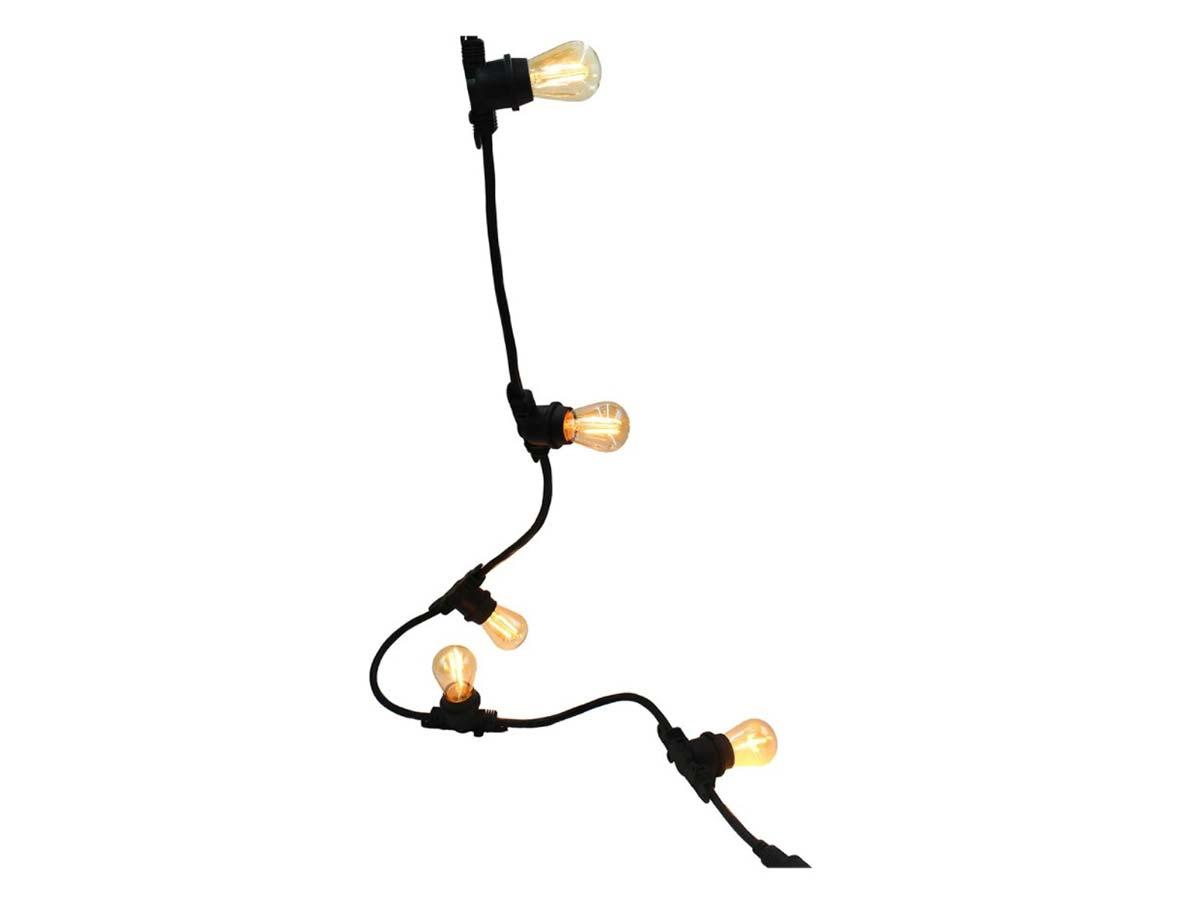 Guirlande lumineuse extérieur connectable 10 ampoules à filament vintage LED blanc chaud LINK ME LIGHT 5 m