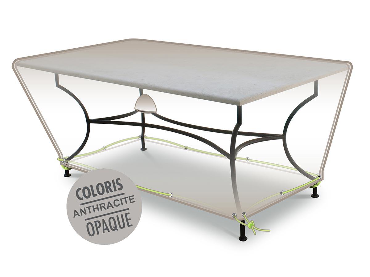Housse de protection pour table de jardin rectangulaire 210 x 100 x 50 cm