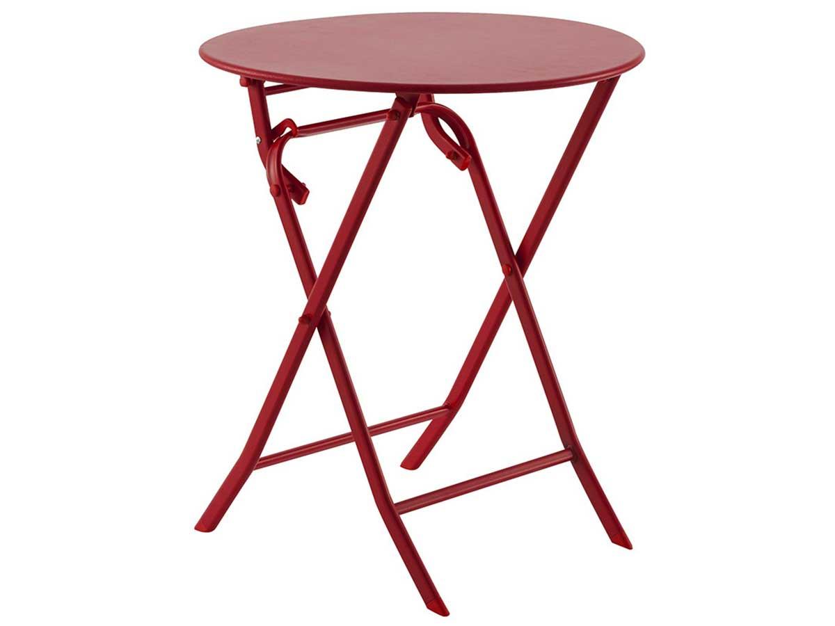 Table de jardin ronde Greensboro Ø 60 cm Groseille