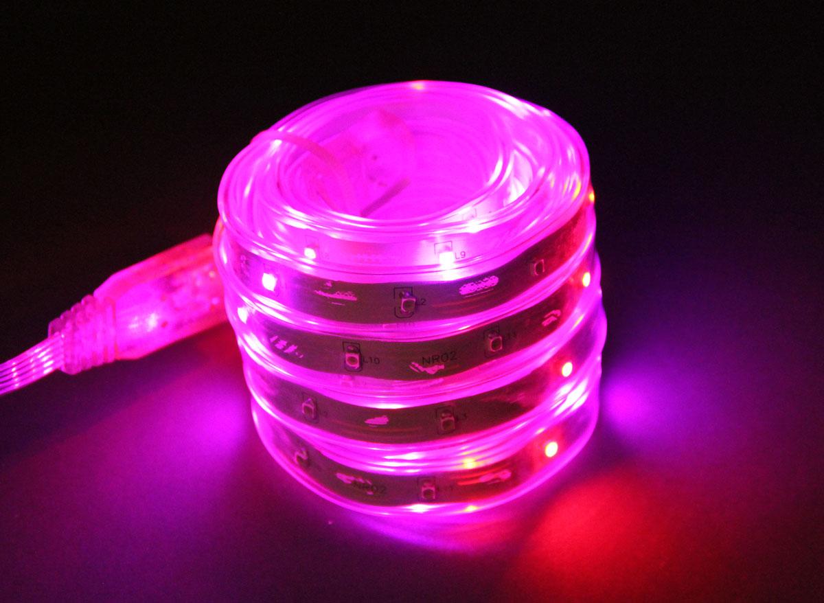 Bandeau lumineux animé LEDS 5 m rose-fuschia-orange EASY CONNECT