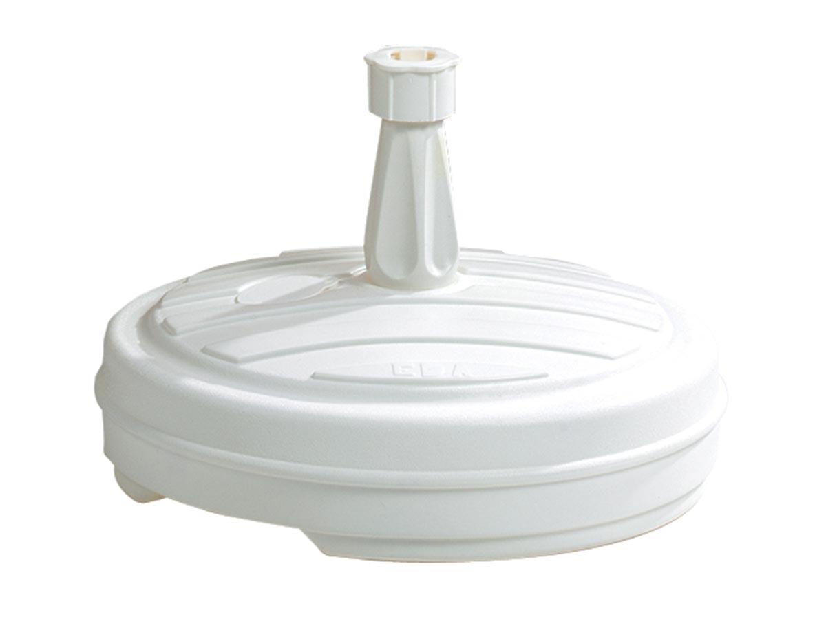 Pied de parasol rond en plastique à remplir 13 l - blanc