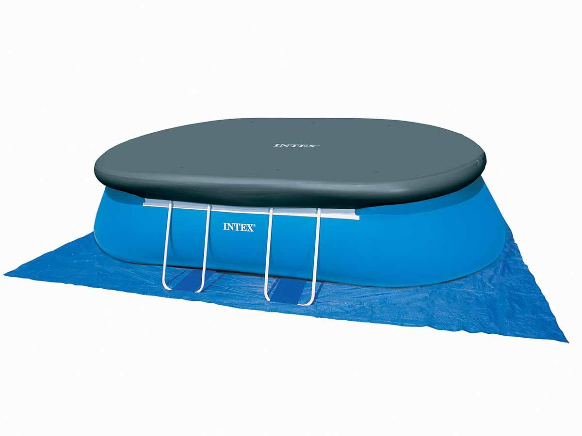 Bâche de protection pour piscine autoportée ovale 5,49 x 3,05 m - Intex